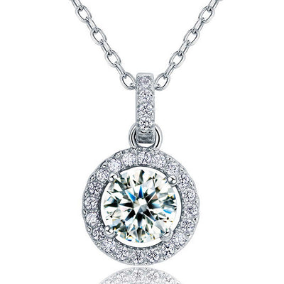 Simulated Diamond Pendant