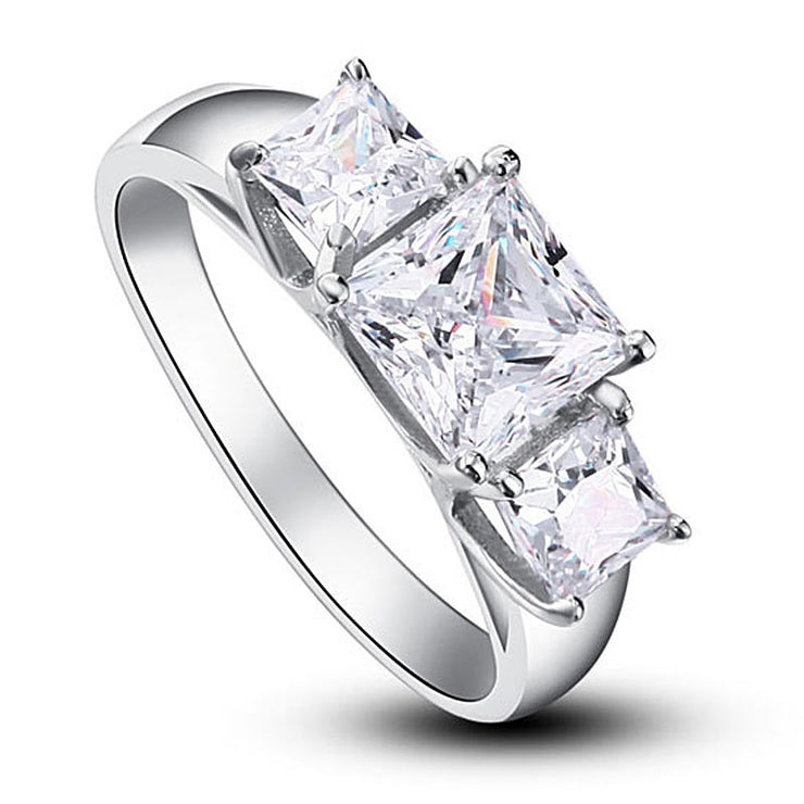 Simulated Diamond Trilogy Ring