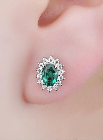 Emerald Earstuds for Women