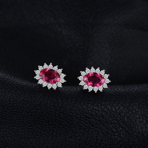 Small Ruby Earrings