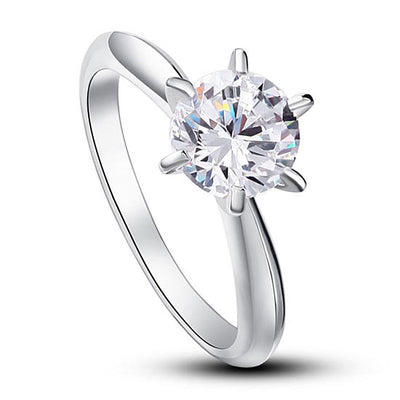 Solitaire simulated Diamond Ring