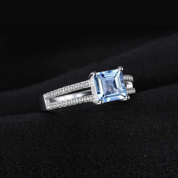 Topaz Princess Cut Ring