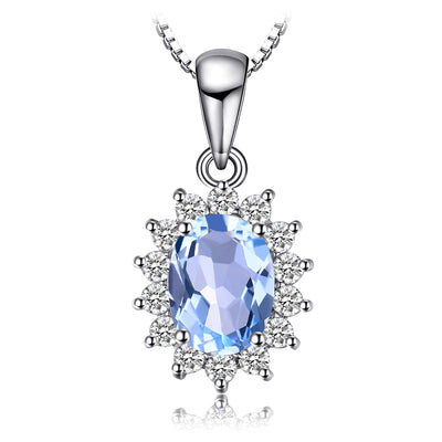 Topaz and Diamond Necklace
