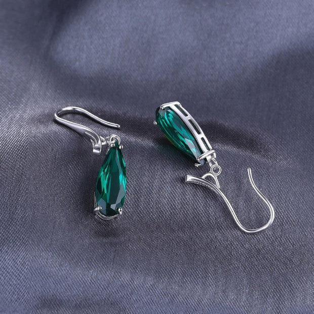 Emerald Earrings Hanging