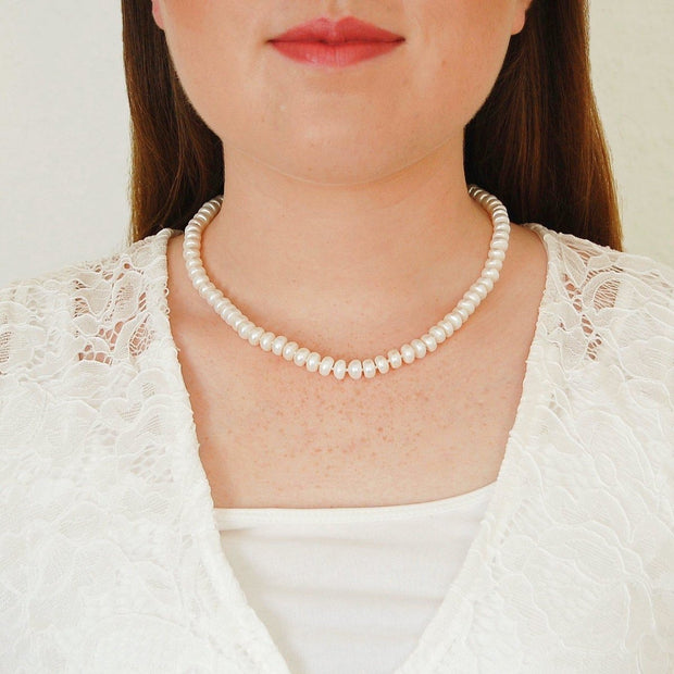 Pearl Necklace with 75 Real Pearls - Pure Gems