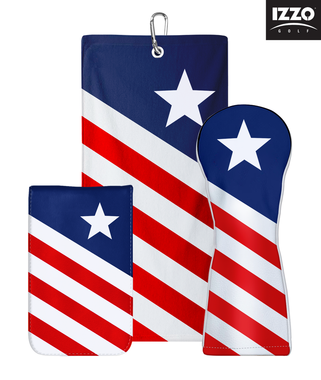 IZZO Golf USA Hybrid Headcover Patriotic Set