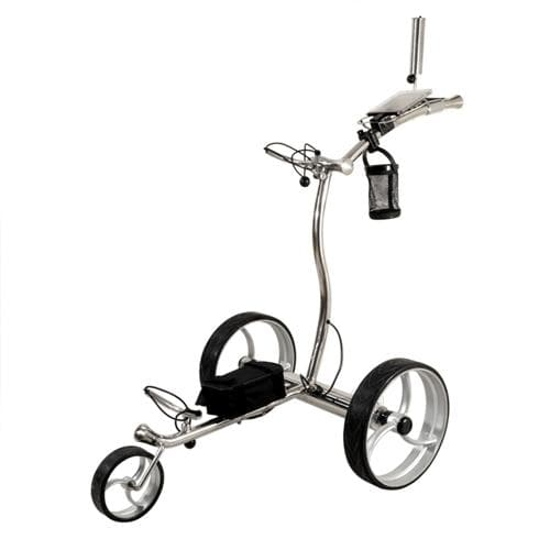 Novacaddy Stainless Steel Luxury LX1R Lithium with 24V - Perceptive Golfing