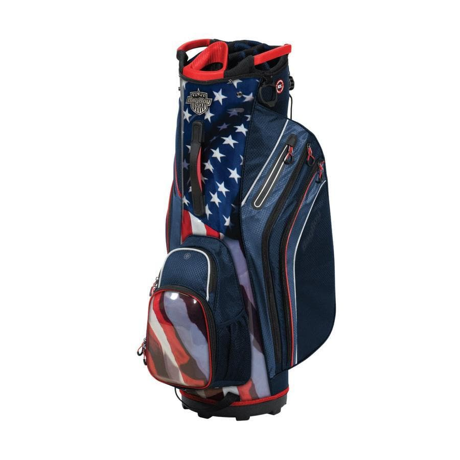 Bag Boy Shield Cart Bag: USA/Navy/Red/White