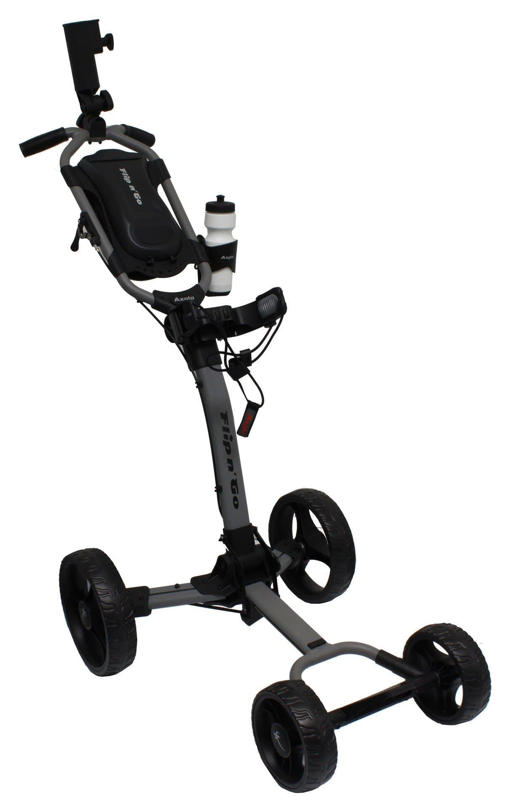 Axglo Flip N' Go 4 Wheel Push Cart (Grey Frame)