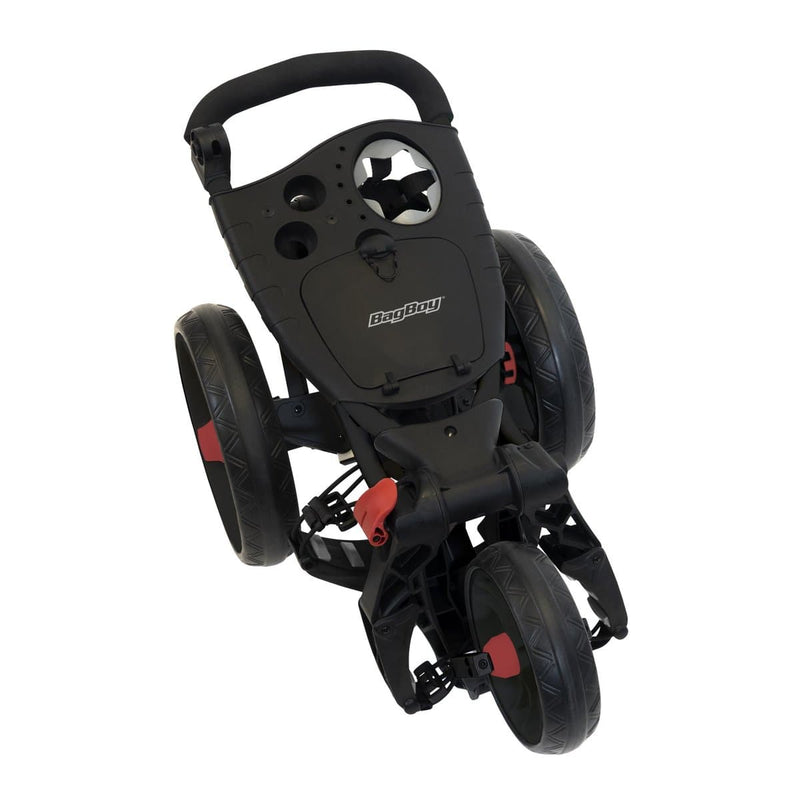 Bag Boy Spartan Push Cart: Black/Red
