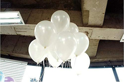 25 Metallic White Party Balloon - BulkHunt - Wholesale Return Gifts Online