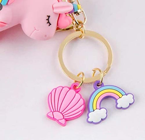 5 Piece Unicorn Bag Keychain