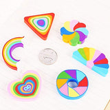 Rainbow Colorful Erasers - BulkHunt - Wholesale Return Gifts Online