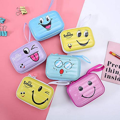 Smile Earphone Metal Pouch - BulkHunt - Wholesale Return Gifts Online