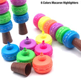 6 Pc Fluroscent Macaron Highlighter