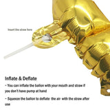 "A Letter Golden Foil Balloons 16"" - BulkHunt - Wholesale Return Gifts Online"