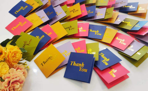 10 Mini Thank You Cards - BulkHunt - Wholesale Return Gifts Online
