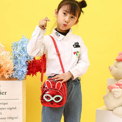 Sequin Sling cum Backpack Rabbit Eyes - BulkHunt - Wholesale Return Gifts Online
