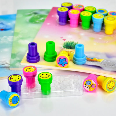 10 Piece Smiley Stamps Set