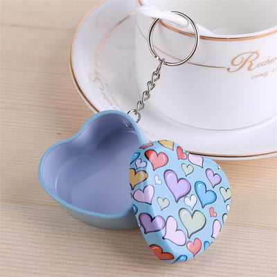 Tin Heart Keychain