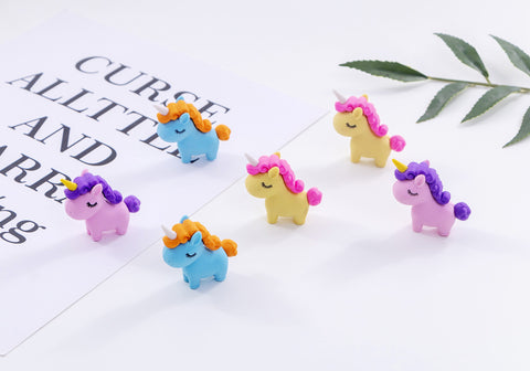 12 Piece Unicorn Erasers New