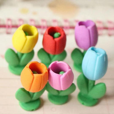 Tulip Flower Eraser - BulkHunt - Wholesale Return Gifts Online