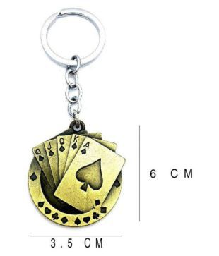 Cards Metal Keychain