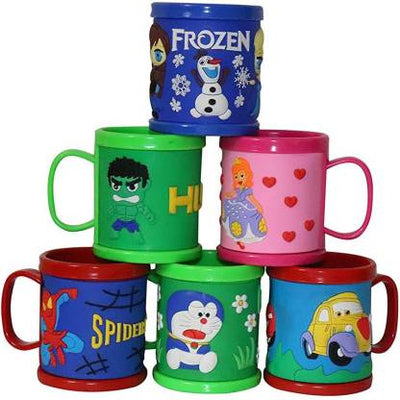 Cartoon Printed Mugs ( Girl Print )