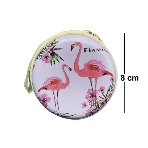 Flamingo Coin Earphone Pouch - BulkHunt - Wholesale Return Gifts Online