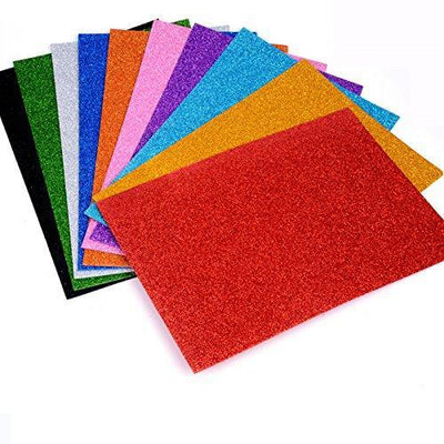 Glitter foam sheet A4 Self Adhesive - BulkHunt - Wholesale Return Gifts Online