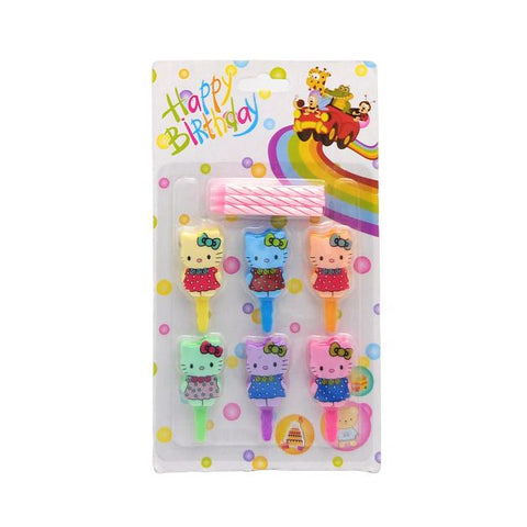 Hello Kitty 6 pc Birthday Candles - BulkHunt - Wholesale Return Gifts Online