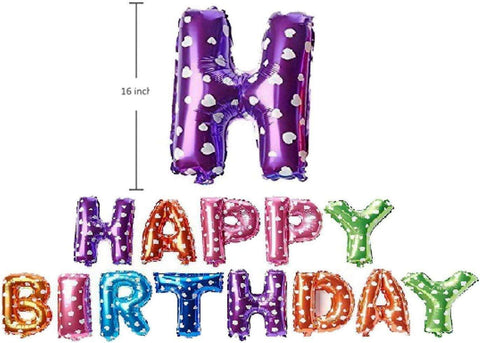 Polka Dots Happy Birthday Foil Balloons - BulkHunt - Wholesale Return Gifts Online