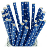 Polka Dots Paper Straws (25 pcs) - BulkHunt - Wholesale Return Gifts Online