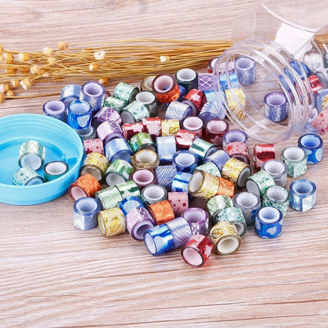Decorative 90 Glitter Tapes Jar - BulkHunt - Wholesale Return Gifts Online