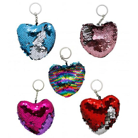 Sequin Heart Keychain - BulkHunt - Wholesale Return Gifts Online