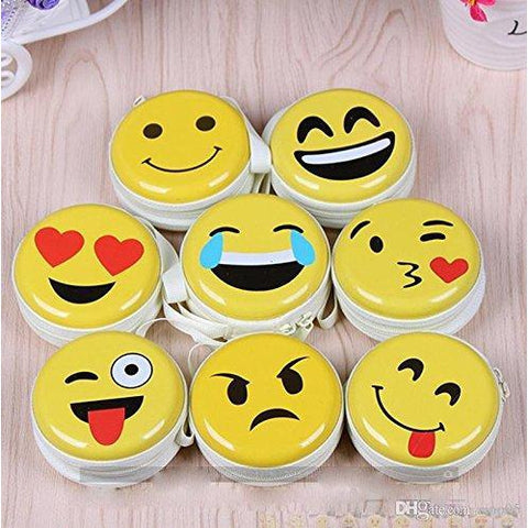 Smile Emoji Coin Earphone Pouch - BulkHunt - Wholesale Return Gifts Online