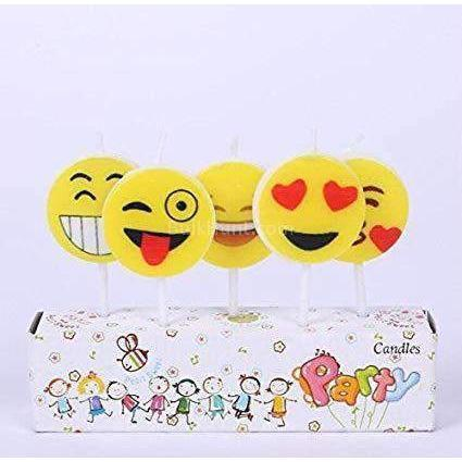 Smiley Emoticon Birthday Candles - BulkHunt - Wholesale Return Gifts Online