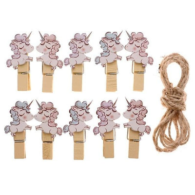 Unicorn Wooden Paper Clips - BulkHunt - Wholesale Return Gifts Online