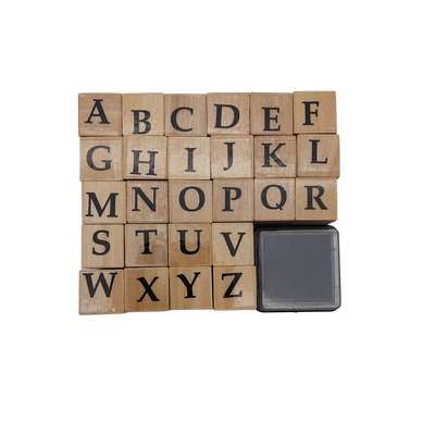 Wooden Alphabet Stamps