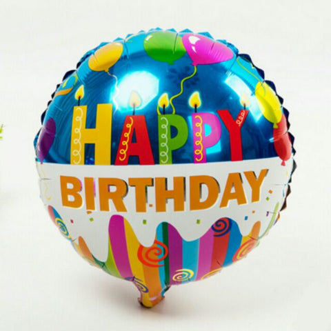 "Happy Birthday Round Foil Balloon 18"" - BulkHunt - Wholesale Return Gifts Online"