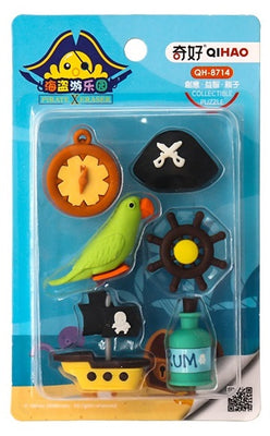 Pirate Erasers Pack