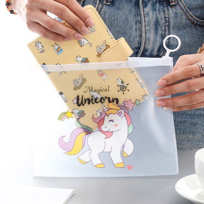 12 Pc Unicorn Transparent Pouch