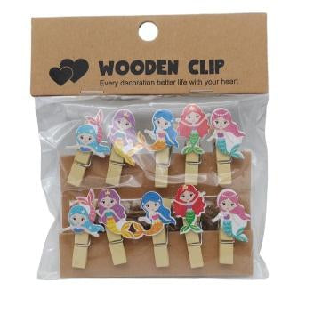 Mermaid Wooden Paper Clips - BulkHunt - Wholesale Return Gifts Online