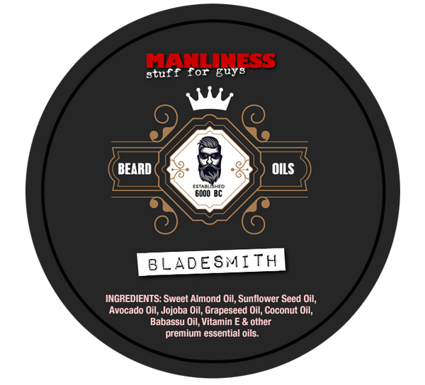 MANLINESS Beard Balm - Bladesmith | Conditioner & Styling Pomade | 2 Oz.