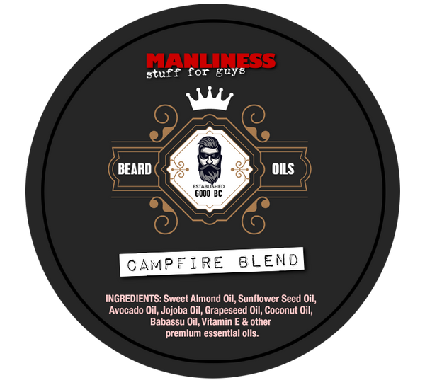 MANLINESS Beard Balm - Campfire Blend | Conditioner & Styling Pomade | 2 Oz.