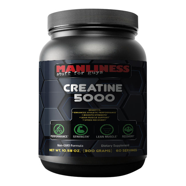 Manliness CREATINE 5000 | Build more muscle and get stronger | Train Harder, Recover Faster, Get Bigger