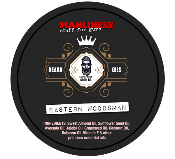 MANLINESS Beard Balm - Eastern Woodsman | Conditioner & Styling Pomade | 2 Oz.