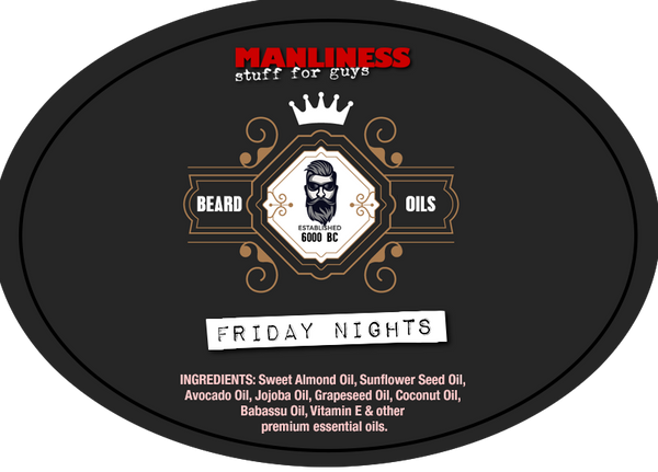 MANLINESS Beard Oil - Friday Nights | Beard Conditioner & Beard Softener | 1 Oz.