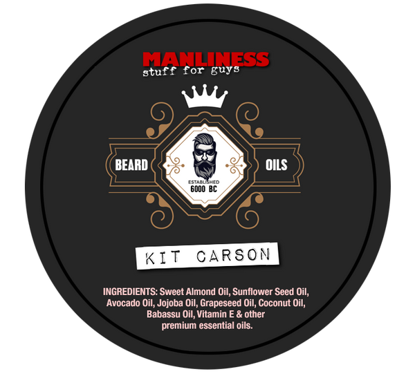 MANLINESS Beard Balm - Kit Carson | Conditioner & Styling Pomade | 2 Oz.