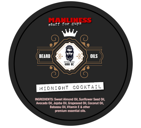 MANLINESS Beard Balm - Midnight Cocktail | Conditioner & Styling Pomade | 2 Oz.